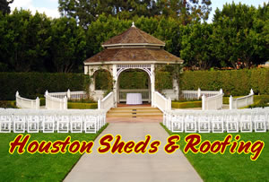gazebo wedding party stairs decorated kingwood tomball pearland