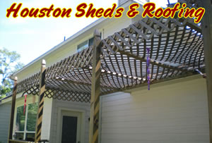 back porch with lattice roof for shade