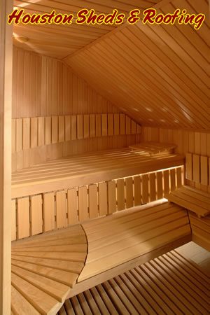 sauna installation bench bed houston construction woodlands
