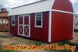 houston barn shed installation on site construction